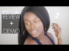 Someday... $300 custom wig || EvaWigs Kinky Straight Wig Review + Application Demo