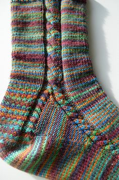 Ravelry: I'll walk my way socks by Mari-Liisa Varila Knitted Socks Free Pattern, Crochet Socks, Knitted Slippers, Knit Or Crochet, Knitting Patterns Free, Free Knitting, Crochet Patterns, How To Knit Socks, Sock Loom Patterns