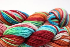 Cheery on Far Out Organic Merino by DiscoBabyKnits