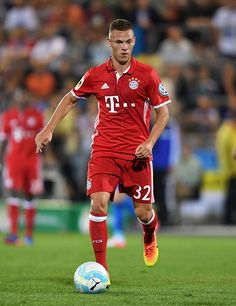 Joshua Kimmich of Munich during the DFB Cup match between FC Carl Zeiss Jena and Bayern Muenchen at ErnstAbbeSportfeld on August 19 2016 in Jena...