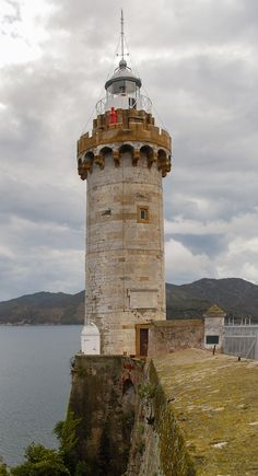 Faro di Forte StellaIsola d'Elba Mediterraneanisland Tuscany Italia 42.816297, 10.334052