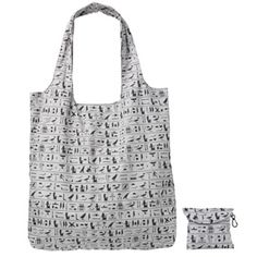 The Met Store - Egyptian Hieroglyphs Folding Tote. My geek side LOVES this!!!