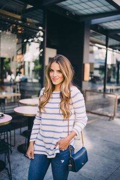 Gal Meets Glam Best San Francisco Coffee Shops - Calypso St. Barth sweater, J.Crew jeans and Coach bag c/o