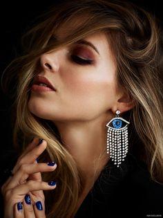 Danielle Knudson wears Earring Shay Jewelry, Black Blazer BCBG