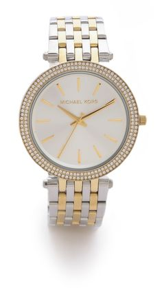 My newest purchase!! :) Michael Kors Darci Pave Two Tone Watch