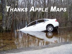 Apple Humor | Think Apple Maps | From Funny Technology - Google+