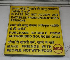 This enemy of food. | 23 Hilarious Notices From India That Will Definitely Get Your Attention