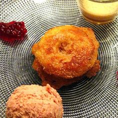 Apfelküchlein, literally translated as apple fritters, is a Swiss dessert which has a practically world wide popularity. A big variety of fruits are used in the desserts recipes of Switzerland and deep fried apple slices include the classical apple cider which gives an amazingly sweet and tart flavor that is part of Swiss tradition.