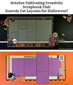 Rose Blossom Legacies: Order Your Layouts Scaredy Cat Halloween Layouts!