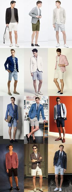 5 Great Combinations on Dressing Up-Dressing Down: 3. Blazers & Shorts Lookbook Inspiration