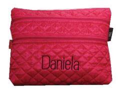 Bolsa para guardar tus útiles escolares con tres divisiones #maruzubiriadf #pink #bag #school #designer