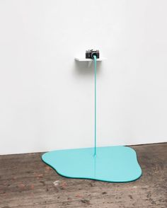 MARKUS HOFER - Farboto (Cyan), 2015, Camera, MDF board, metal, spackle, lacquer, 110 x 90 x 90 cm, Image courtesy of Mario Mauroner Contemporary Art Salzburg-Vienna