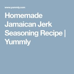 Homemade Jamaican Jerk Seasoning Recipe | Yummly Jerk Seasoning Recipe, Jamaican Jerk Seasoning, Spicy, Fish, Homemade, Vegetables, Recipes, Home Made, Veggies