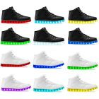 Men Women LED Night Light Couples Light Up Shoe Trainer High top Shoes Sneakers