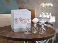 Atlantis Porcelain Diffuser Gift Set by Zodax #zodax #zodaxdesigns #candle #ocean #Summer #home #diffuser