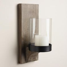 One of my favorite discoveries at WorldMarket.com: Rustic Wood Mason Sconce