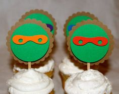Teenage Mutant Ninja Turtles Birthday,Teenage Mutant Ninja Turtle cupcake toppers,Teenage Mutant Ninja Turtle Decorations, TMNT theme,