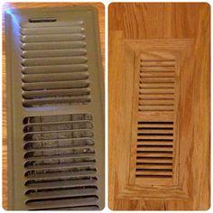 From old traditional heat vent to modern wood flush vent. Slate Flooring, Cork Flooring, Laminate Flooring, Kitchen Flooring, Hardwood Floors, Armstrong Flooring, Floor Vent, Home Improvement, New Homes