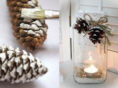 12 idées déco avec des pommes de pin pour Noël
