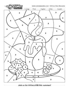 Winter Activity Number Page G-Force Adventure Park VBS cokesburyvbs.com Christmas Worksheets, Christmas Games, Christmas Activities, Christmas Printables, Christmas Colors, Christmas Projects, Kids Christmas, Holiday Crafts, Colouring Pages