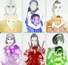 Avatar: The Legend of Aang - Gaang; Aang, Katara, Sokka, Suki, Zuko and Toph Avatar Aang, Avatar Legend Of Aang, Team Avatar, Zuko, Avatar Cartoon, Avatar Funny, The Last Avatar, Avatar The Last Airbender Art, Legend Of Korra