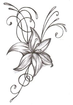Orchid Tattoo Drawing photo - 4