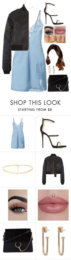 """The Shore..."" by laurynpetts ❤ liked on Polyvore featuring La Perla, Giuseppe Zanotti, Anthony Vaccarello and Chloé"