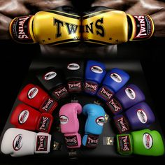 8oz-14oz Red twins boxing gloves adult playing sandbags parry that men and women fight training sanda muay Thai boxing gloves #Affiliate