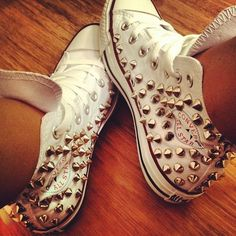 spiked converse high-tops