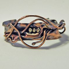 Copper Folded Cuff Reserved for Keri