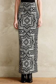 Starscape Jacquard Maxi Skirt #Anthropologie