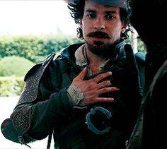 Aramis gif Aramis The Musketeers, The Three Musketeers, The Muskateers, Aramis And Anne, Howard Charles, Luke Pasqualino, Tom Burke, Bbc Drama, Never Grow Old