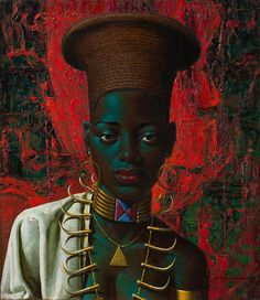 Vladimir Tretchikoff: Zulu Maiden. Captured by Clive Hassall Photography, producers of fine art capture and advanced, colour management in South Africa. www.clivehassall.com