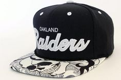 Handcrafted Custom Oakland Raiders Snapback Hat by Snap'Em Back Sports for $54.99 + free shipping!