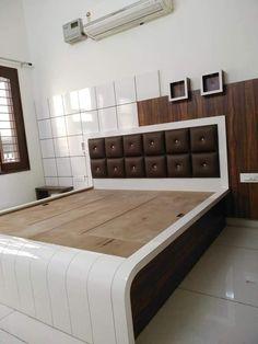 Bed Headboard Design, Bedroom Cupboard Designs, Bedroom False Ceiling Design, Luxury Bedroom Design, Bedroom Closet Design, Bedroom Furniture Design, Home Room Design, New Bed Designs, Double Bed Designs