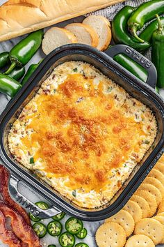 Bacon Jalapeno Poppers, Jalapeno Popper Dip, Jalapeno Recipes, Appetizer Dips, Appetizers For Party, Appetizer Recipes, Party Dips, Yummy Appetizers, Dinner Recipes