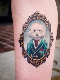 dog in frame tattoos - Google Search