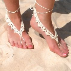crochet barefoot sandal - I love the way styles come back, I had these in the 70's
