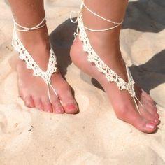 crochet barefoot sandal  | followpics.co