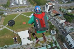 You can Base jump at Bridge day in West Virginia! Jump from the 876 ft tall bridge over the New River Gorge while attached to a professional Tandem Base instructor.