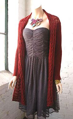 Juliana Wrap Cardigan Pattern - free on Ravelry
