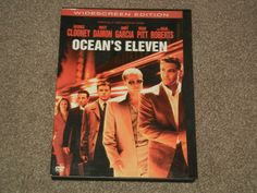 OCEAN'S Eleven (DVD, Movie, Adventure, Crime, 2002, Widescreen, Rated-PG-13 )