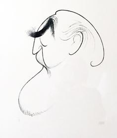 Self Portrait At 86 1989 by Al Hirschfeld - Lithograph