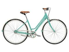 This commuter bike is 3-4 years old and gently used. The leather seat and handles are in great shape and not faded. Tires are in good shape. Stored inside primarily. I'm selling to get a mountain...