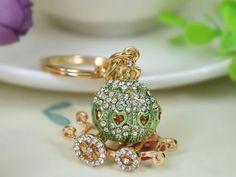 TR027-T-Pumpkin-Keyring-Rhinestone-Crystal-Charm-Pendant-Key-Bag-Chain-Gift