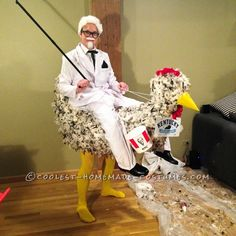 Cool Illusion Costume: The KFC Colonel Goes to the Races... Coolest Halloween Costume Contest