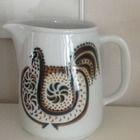 Finland, Scandinavian, Rooster, Pottery, Ceramics, Mugs, Retro, Tableware, Ebay
