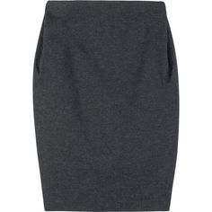 Lanvin Draped Pencil Skirt ($276) ❤ liked on Polyvore