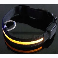Safety Pets Light Up LED Collar Flashing Night Collar Nylon Dogs Collar #Affiliate