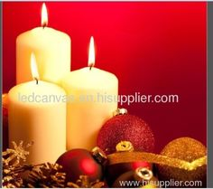 Christmas candle-LED canvas uniquea07 manufacturer from China ...